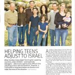 """Helping Teens Adjust to Israel"" is…"